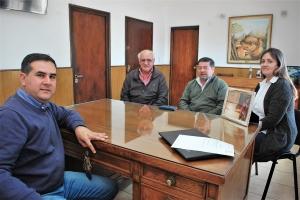 El intendente Irigoyen recibió al Ministro Federico Mouliá