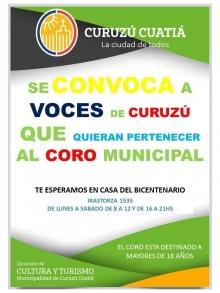 ¿Querés participar del Coro Municipal?