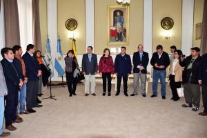 El intendente comunal José Irigoyen dio la bienvenida a las autoridades rotarias