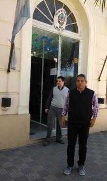 Domínguez se reunió con el Jefe de Policía por las pintadas