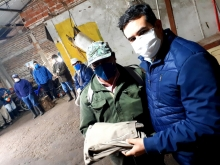 Entrega de indumentaria a empleados de Espacios Públicos