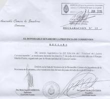 El Senado Provincial declaró de interés legislativo al XII° Festival del Locro curuzucuateño