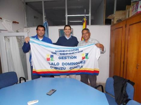 Domínguez despidió a atleta  curuzucuateño