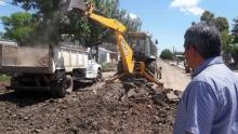 Continúan los trabajos de pavimento en Avda. Laprida