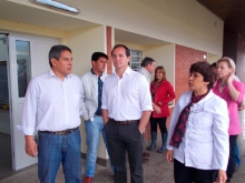 Lalo y Camau recorrieron la Escuela 33 Dr. Tomás  Pozzi
