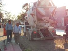 Domínguez recorrió trabajos de pavimento