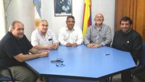 Domínguez recibió a autoridades del Club San Martín