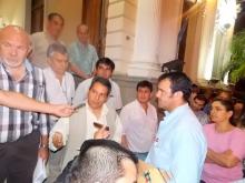Domínguez recibió a comerciantes