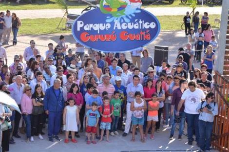 El Intendente Domínguez inauguró  el Parque Acuático Curuzú Cuatiá