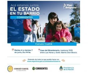 """""""El Estado en tu Barrio"""" en Curuzú Cuatiá"""