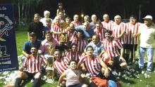 Domínguez en la final del Fútbol de Veteranos