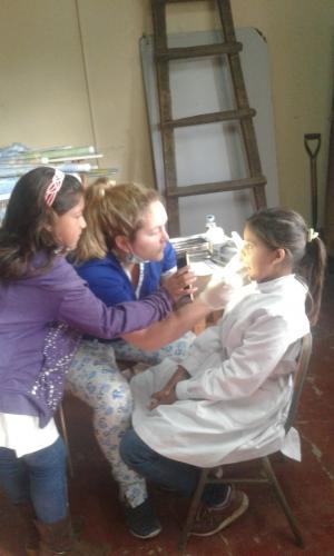 Operativo de salud en Paraje La Cañada