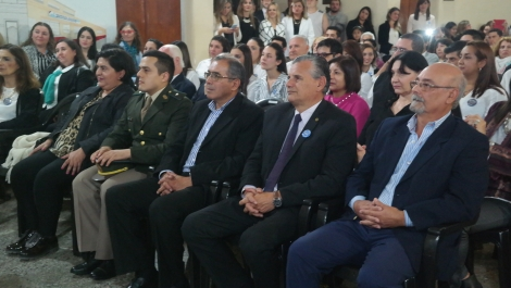 Funcionarios municipales participaron del acto de egresados y por los 41 años del ISCC