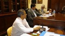 El Intendente Domínguez en el recinto del HCD