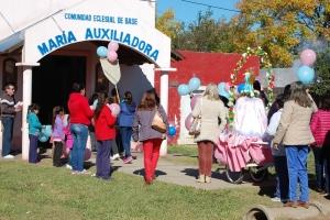Procesión y misa en honor a Maria Auxiliadora