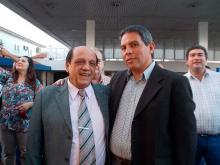 Intendente Domínguez con el Secretario de Medio Ambiente de Nación
