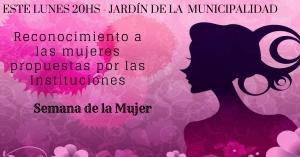 El Municipio reconocerá a las mujeres propuestas por las instituciones