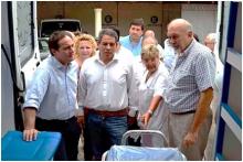 Domínguez recibió una ambulancia para Curuzú