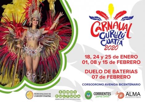 Desde éste sábado ya estarán disponibles las entradas en venta para las noches de carnaval curuzucuateño 2020