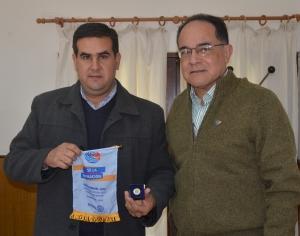 El intendente Irigoyen recibió al gobernador del Distrito 4845 del Rotary Club Internacional