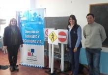 Charla de Seguridad Vial en la Extensión Áulica de la Escuela Sorribes en Paraje Baibiene