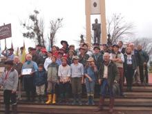 Llegó a Curuzú el cofre con tierra del suelo natal  del Gral. San Martín