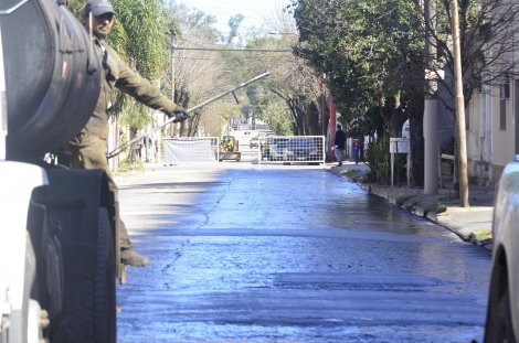 Corte de calles por trabajos de obras