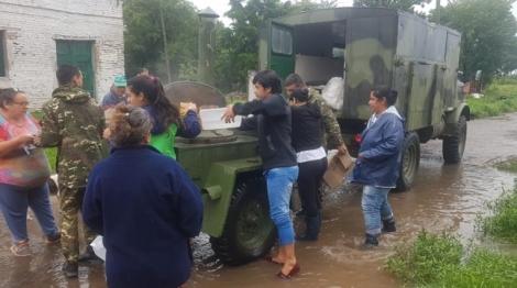 El Municipio asiste a los damnificados por el temporal