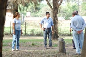 El Intendente recorrió obras y proyectó obras de mejoras en el Parque Martin Fierro