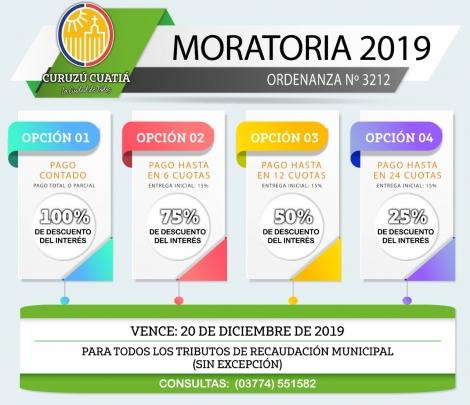 MORATORIAS 2019