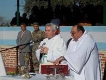 Domínguez participó de la Misa de campaña