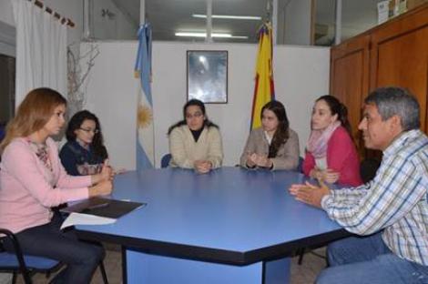 Domínguez recibió a  alumnos de la carrera de Abogacía