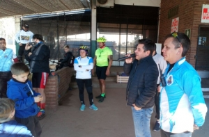 Ciclistas devotos de la Virgen agradecen al intendente Irigoyen