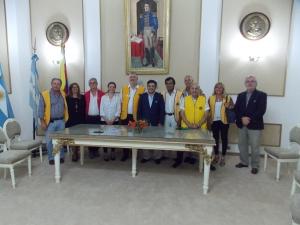 Autoridades Municipales recibieron al Gobernador de Distrito 02 del Club de Leones