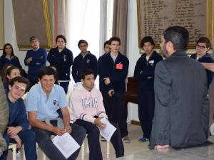 Alumnos del Instituto María Auxiliadora visitaron el Palacio Municipal y el HCD
