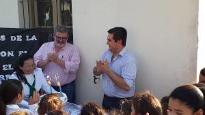 La comunidad de la Escuela Alberdi saludó a los abogados y agasajó al Intendente y al Asesor Letrado