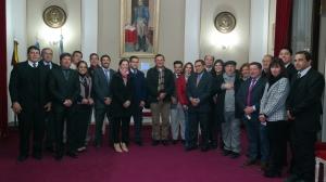 El Intendente Irigoyen y su gabinete recibieron la visita pastoral de Monseñor Canecin