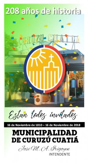Curuzú alista varias actividades oficiales de cara a un nuevo aniversario