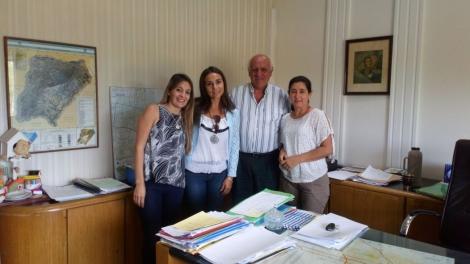 Una delegación municipal con sendas reuniones en la capital correntina