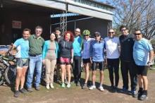 Ciclistas peregrinos a Itatí