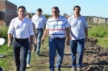 Domínguez recorrió obras con Camau