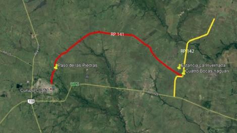 """Cierran ruta 141 a la altura del establecimiento ganadero """"La Invernada"""""""
