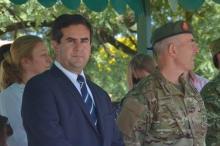 Irigoyen participó de un solemne acto en el Ejército