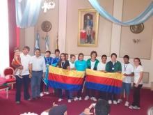 El Intendente recibió a deportistas de los Juegos Evita 2012