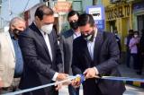 Irigoyen junto a Valdés inauguraron repavimentación de calle Berón de Astrada y sector de Emergencias del Hospital
