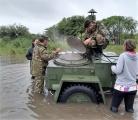 Megaoperativo de asistencia a damnificados por las intensas lluvias