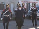 Granaderos saludaron a hisopadores en los centros de testeos