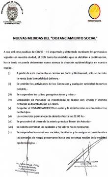 Las autoridades municipales anunciaron nuevas medidas ante aparición de caso importado de covid-19 en Curuzú