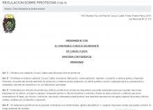 Comunicado de la Dirección de Calidad Ambiental y Bromatología