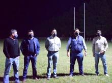 Ñandubay estrenó su nueva luminaria y el Municipio estuvo presente